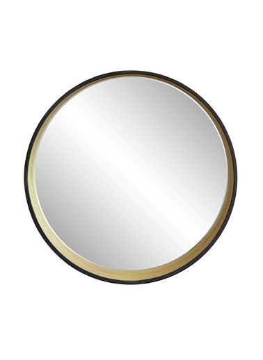 Warm Design Yuvarlak Metal Duvar Aynası Altın